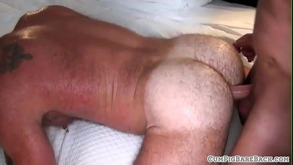 Mature bear riding and sucking hard cock